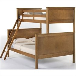 NE Kids School House Twin over Full Bunk Bed in Pecan