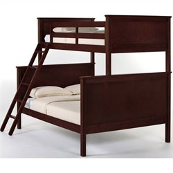 NE Kids School House Twin over Full Bunk Bed in Cherry