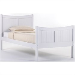 NE Kids School House Taylor Bed in White - Twin