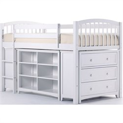 NE Kids School House Storage Junior Loft in White
