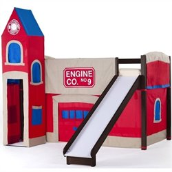 NE Kids School House Firehouse Loft in Chocolate