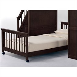 NE Kids School House Lower Stair Loft Bed in Chocolate