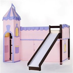 NE Kids School House Princess Loft Bed in Chocolate