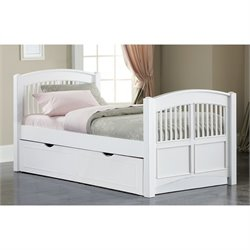 NE Kids Walnut Street Hayden Twin Bed with Trundle in White