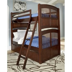 NE Kids Walnut Street Hayden Twin over Twin Bunk Bed in Chestnut