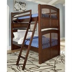 NE Kids Walnut Street Hayden Bunk Bed with Nightstand 2