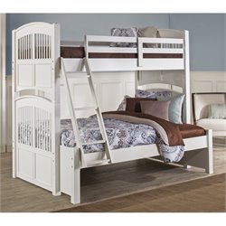 NE Kids Walnut Street Hayden Twin over Full Bunk Bed in White