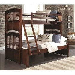 NE Kids Walnut Street Hayden Twin over Full Bunk Bed in Chestnut