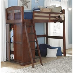 NE Kids Walnut Street Locker Loft Bed in Chestnut