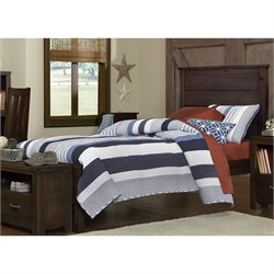 NE Kids Highlands Alex Twin Panel Bed in Espresso