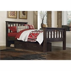 NE Kids Highlands Harper Slat Storage Bed 1