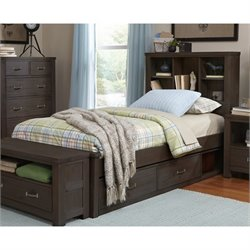 NE Kids Highlands Bookcase Storage Bed 1