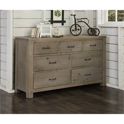 NE Kids Highlands 7 Drawer Dresser in Driftwood