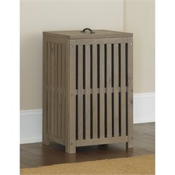 NE Kids Highlands Clothes Hamper in Driftwood