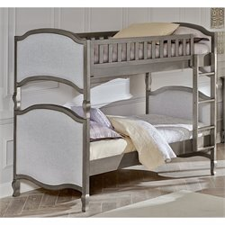 NE Kids Kensington Victoria Twin over Twin Bunk Bed in Antique Silver