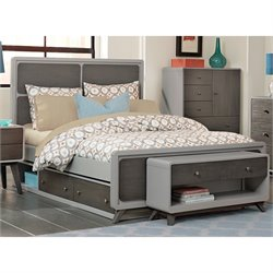 NE Kids East End Full Panel Storage Bed in Gray