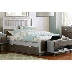 NE Kids East End Full Spindle Bed with Trundle in Gray