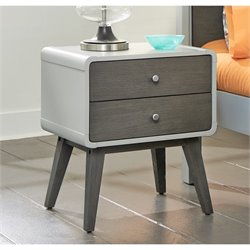 NE Kids East End 2 Drawer Nightstand in Gray
