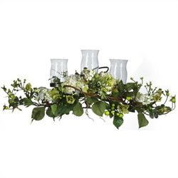 Nearly Natural Hydrangea Triple Candleabrum Centerpiece in Cream