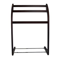 Proman Products 3 Rung Towel Rack in Mahogany