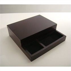 Proman Products Royal Dresser Valet in Dark Mahogany