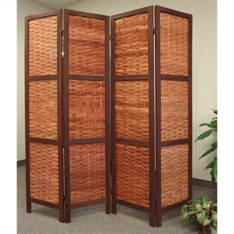 Proman products saigon folding screen in bamboo fs16688 Bamboo screens for outdoors