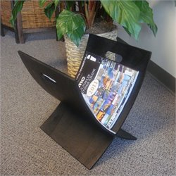 Proman Products Aspen Plywood Magazine X Rack in Black