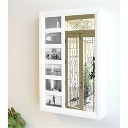 Proman Products Bellissimo Venice Wall Mount Jewelry Armoire in White