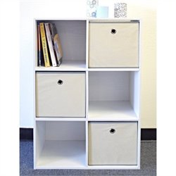 Proman Products Colonial Storage Cubes in White