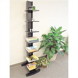 Proman Products Hancock Tower Spine Shelf in Black Finish