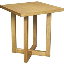 Regency Chloe Square Veneer End Table in Medium Oak