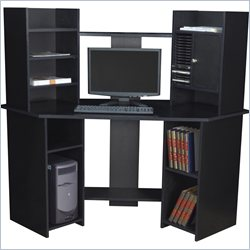 Regency Rta Corner Computer Workstation in Ebony