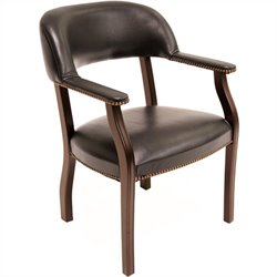 Regency Ivy League Captain Guest Chair in Black