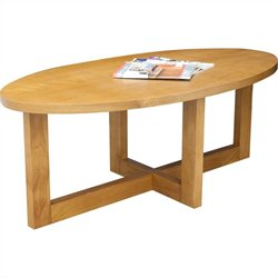 Regency Chloe Oval High Veneer Coffee Table in Medium Oak