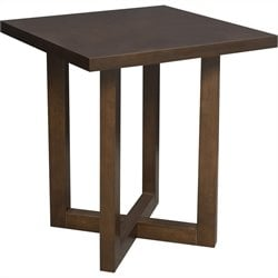Regency Chloe Square Veneer End Table in Mocha Walnut