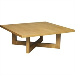 Regency Chloe Square Veneer Coffee Table in Medium Oak
