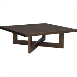 Regency Chloe Square Veneer Coffee Table in Mocha Walnut