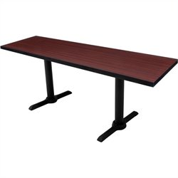 Regency Cain T Base Training Table in Mahogany