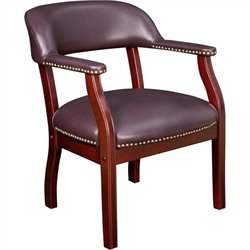 Regency Ivy League Captain Guest Chair in Burgundy