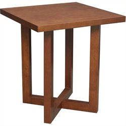 Regency Chloe Square Veneer End Table in Cherry