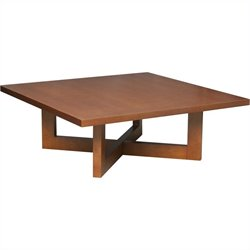 Regency Chloe Square Veneer Coffee Table in Cherry
