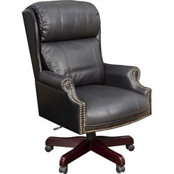 Regency Barrington Traditional Judge's Style Swivel Office Chair in Black