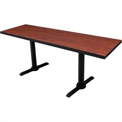 Regency Cain T Base Training Table in Cherry