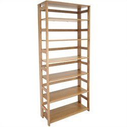 Regency Flip Flop 67 inch High Folding Bookcase in Medium Oak