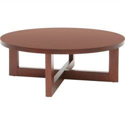 Regency Chloe Round Veneer Coffee Table in Cherry