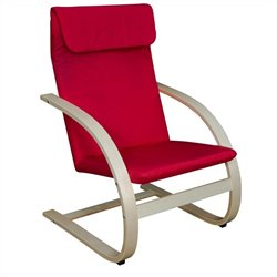 Regency Mia Reclining Chair in Natural And Red