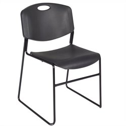 Regency Zeng Stack Stacking Chair in Black (Set of 4)