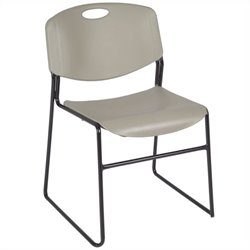 Regency Zeng Stack Stacking Chair in Grey (Set of 4)
