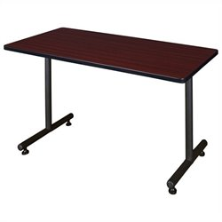 Regency Rectangular Training Table with Kobe Base in Mahogany - 42 inch