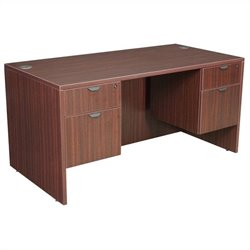 Regency Legacy Desk with Pedestals in Mahogany